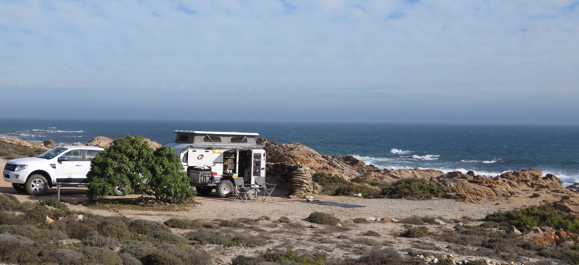 Offroad Caravan at the Beach