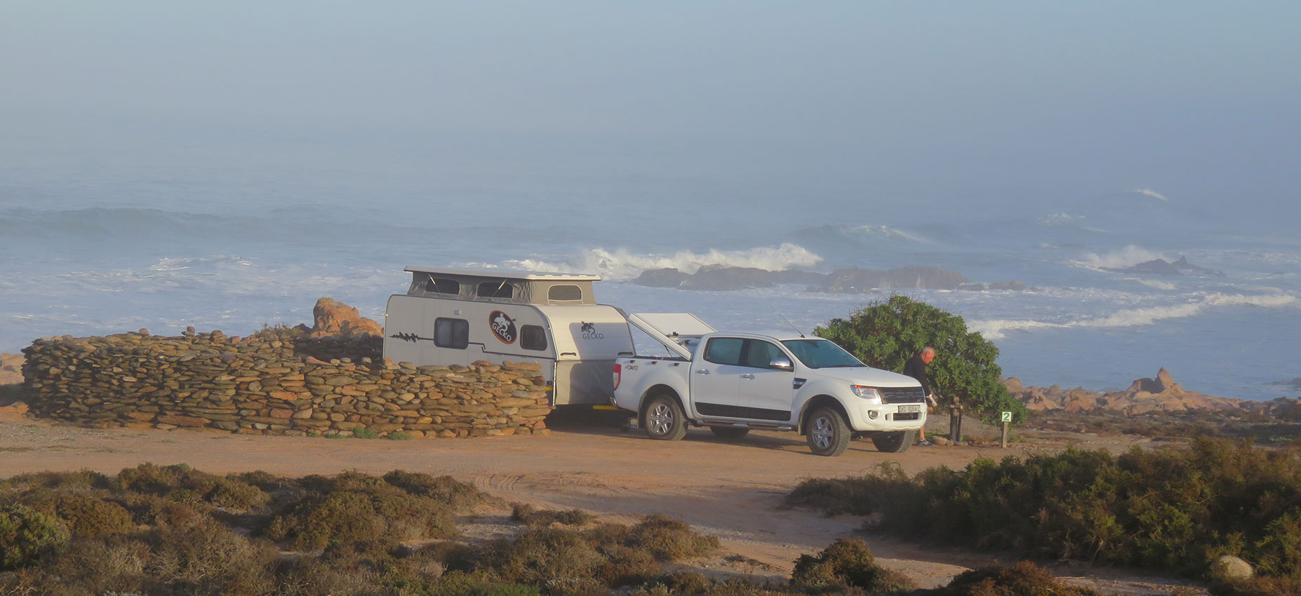 Offroad Caravan Camping at Sea