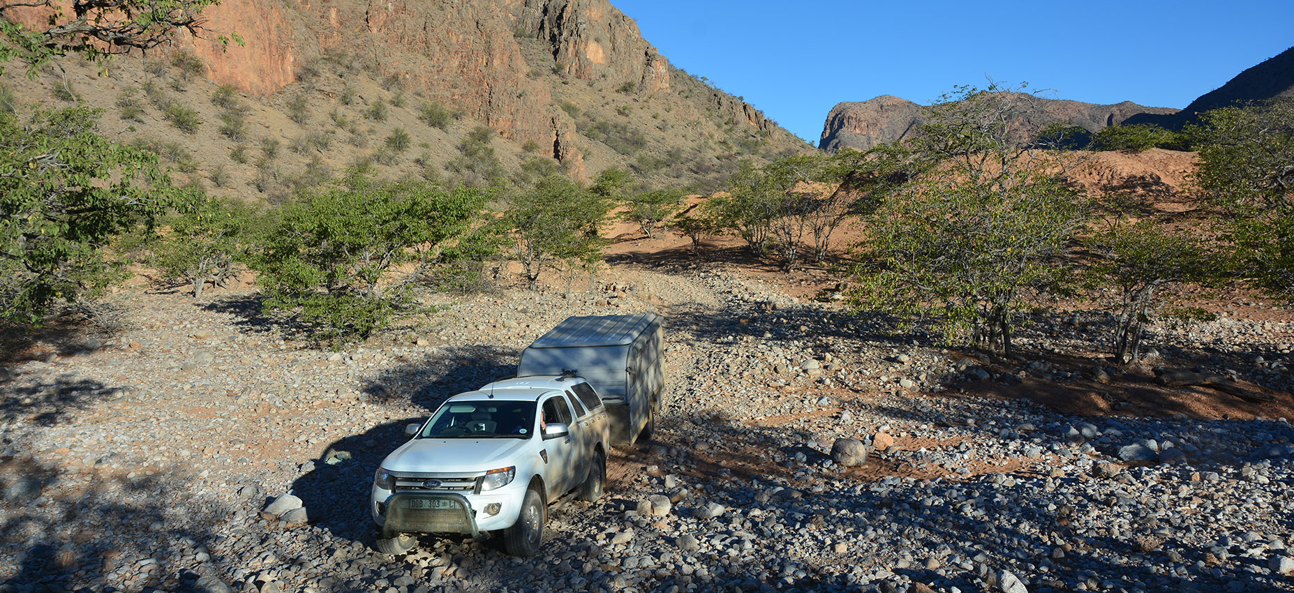 Offroad Caravan on Rocky Road